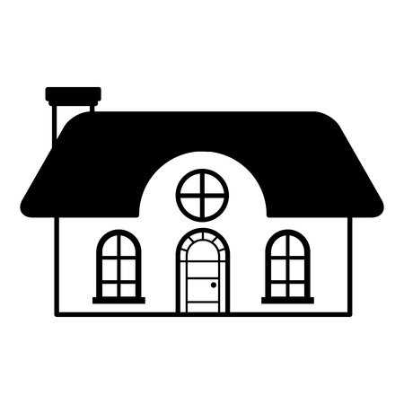 house on white background vector illustration  イラスト・ベクター素材