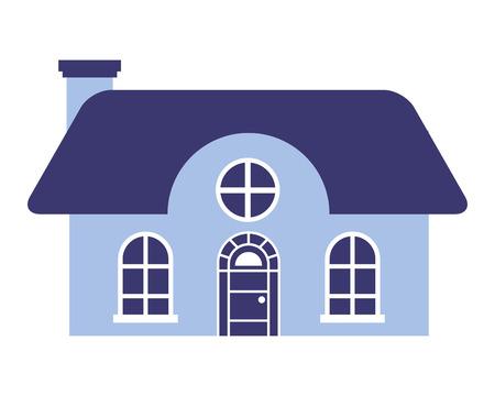 house on white background vector illustration Ilustrace