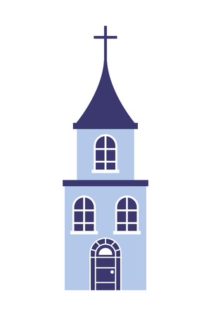 church cross building on white background vector illustration Illustration