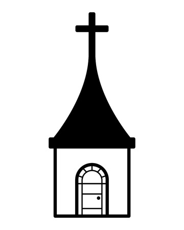 church cross building on white background vector illustration 向量圖像