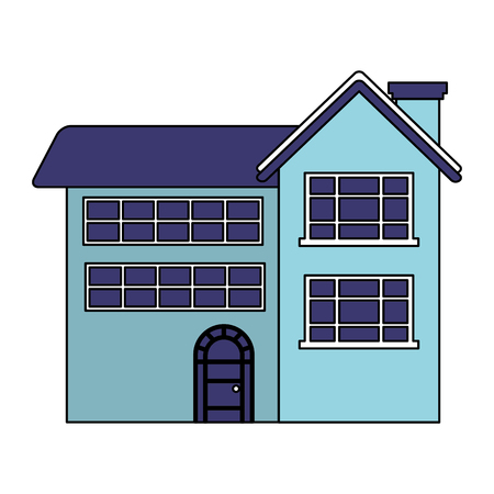 house on white background vector illustration  イラスト・ベクター素材