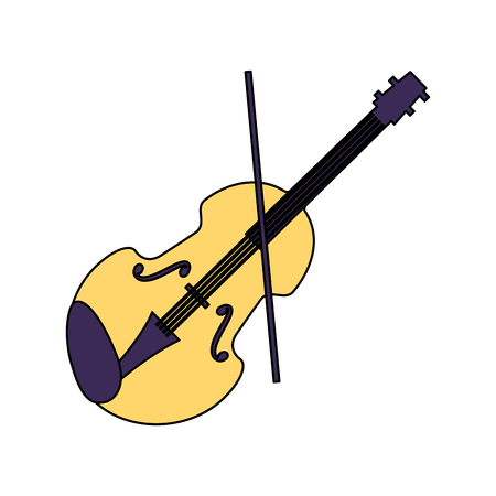 violin musical instrument on white background vector illustration