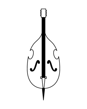 cello musical instrument on white background vector illustration