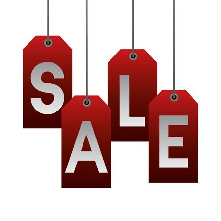 lettering hang sale  cyber monday vector illustration
