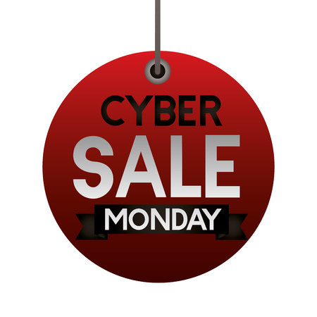 tag coupon sale  cyber monday vector illustration
