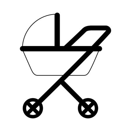 pram baby on white background vector illustration Ilustrace