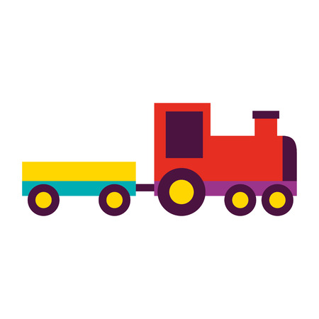 toy train wagon on white background vector illustration 写真素材 - 111413109