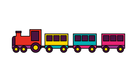 train toy on white background vector illustration