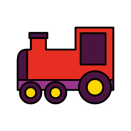 toy train wagon on white background vector illustration