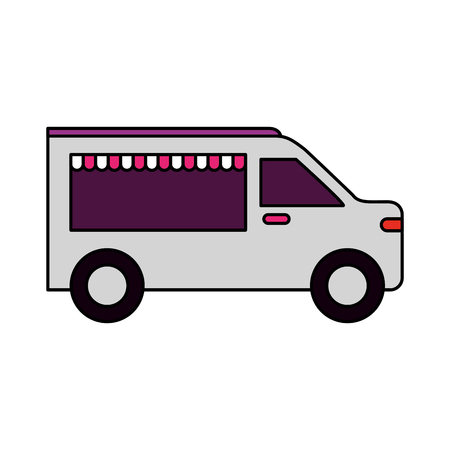 food truck on white background vector illustration Illustration