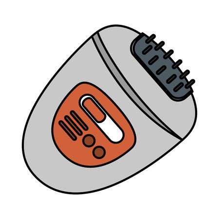 depilator machine electric icon vector illustration design