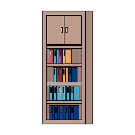 bookscase library isolated icon vector illustration design