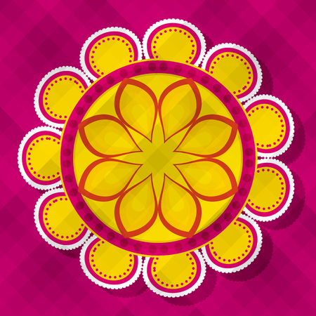 diwali flower mandalas to hindu festival vector illustration