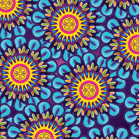 mandalas flowers background to diwali festival vector illustration
