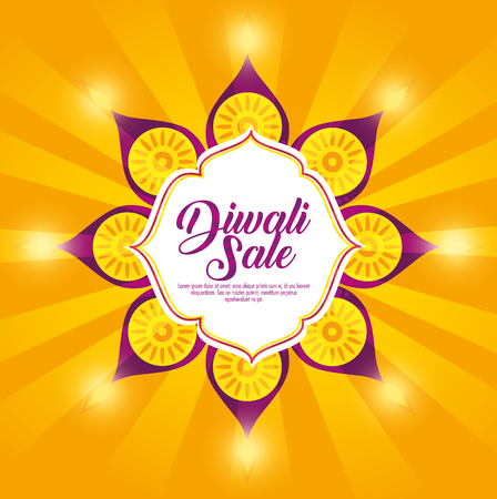 flower mandalas decoration to diwali festival vector illustration Illustration