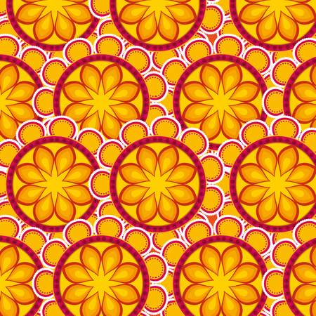 mandalas flowers to diwali hindu festival vector illustration