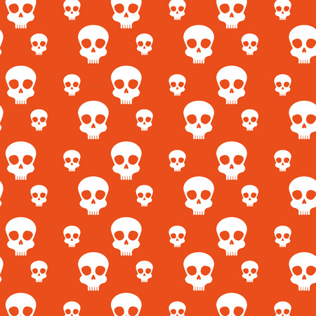 skull background to celebrate day of the dead event vector illustration