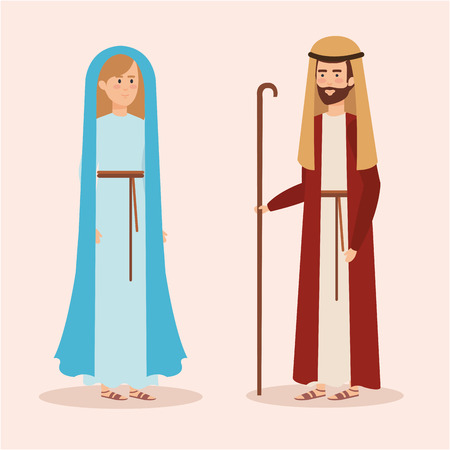 cute mary virgin character vector illustration design Banque d'images - 111457947