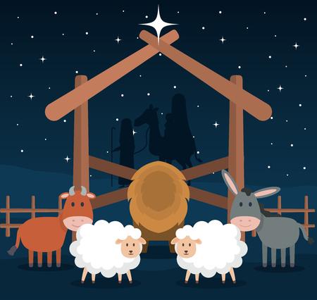 wooden stable manger icon vector illustration design Illustration
