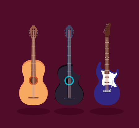 set music instruments icons vector illustration design