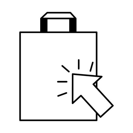 bag clicking online buying ecommerce vector illustration Illustration
