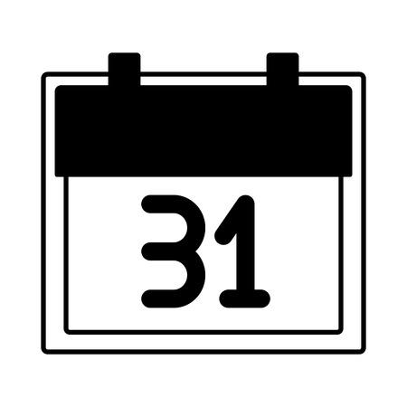 calendar reminder on white background vector illustration Ilustração