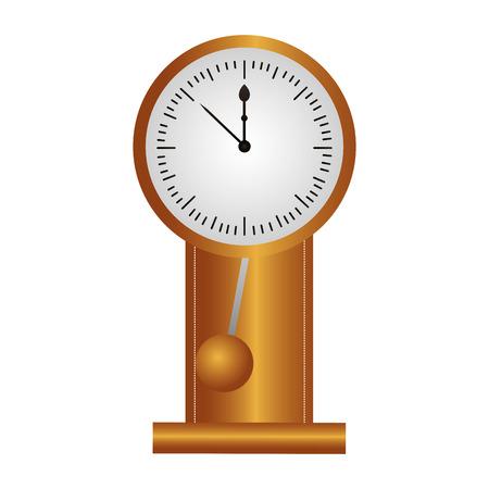 pendulum clock on white background vector illustration