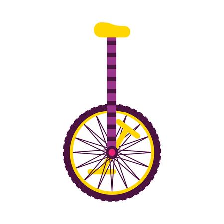 Objeto monociclo en la ilustración de vector de fondo blanco