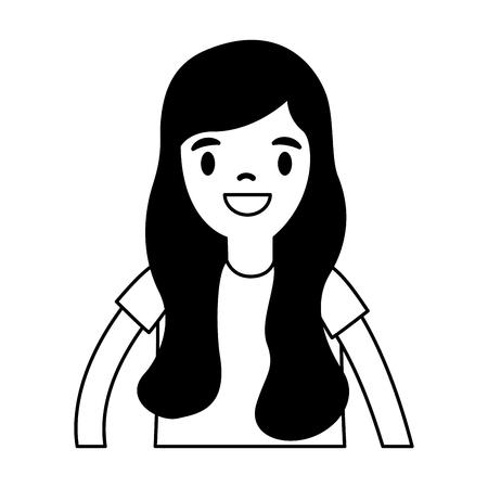 smiling girl portrait on white background vector illustration Standard-Bild - 111847669