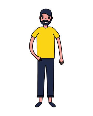 traveler man tourist on white background vector illustration 일러스트