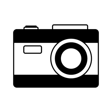 photographic camera on white background vector illustration Archivio Fotografico - 111844231