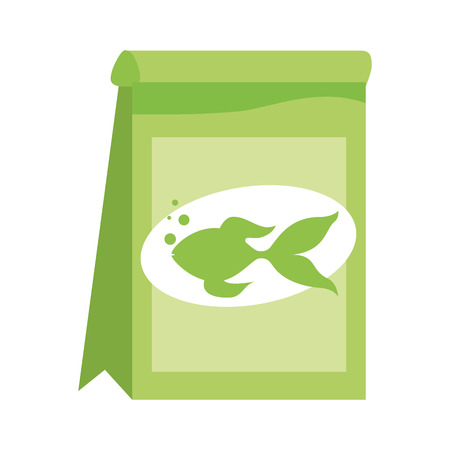pet shop fish food package vector illustration
