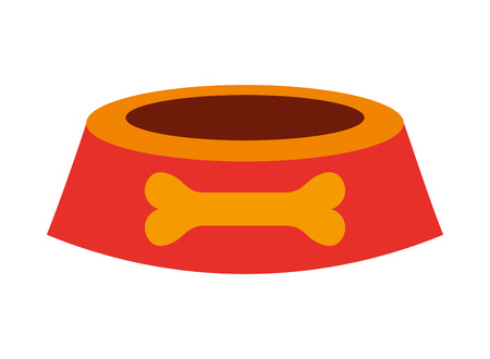 pet shop bowl on white background vector illustration 일러스트