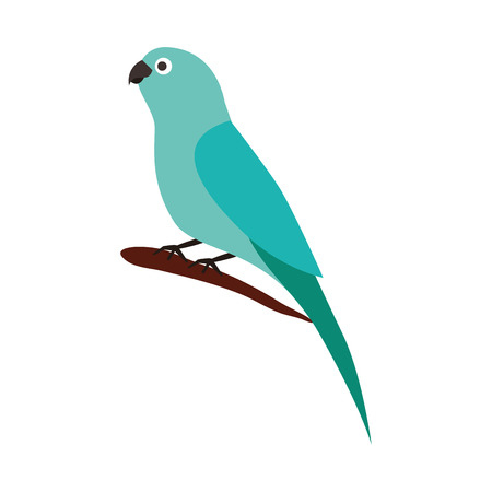 little canary bird on branch vector illustration