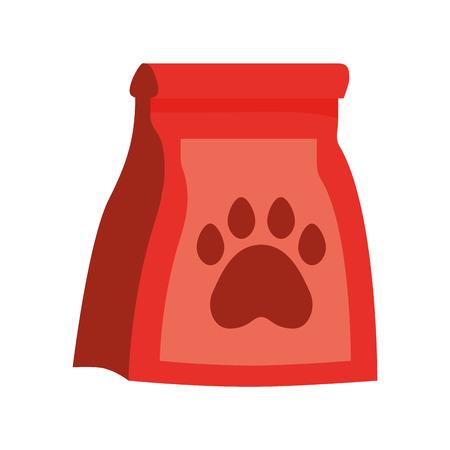pet shop package paw on white background vector illustration Ilustração