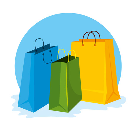 fashion sale bags to special price vector illustration Illustration