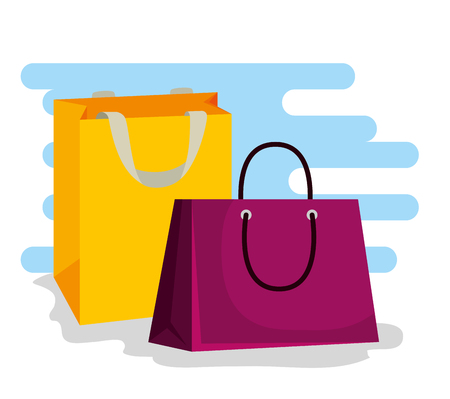 sale bags to special offer in the store vector illustration