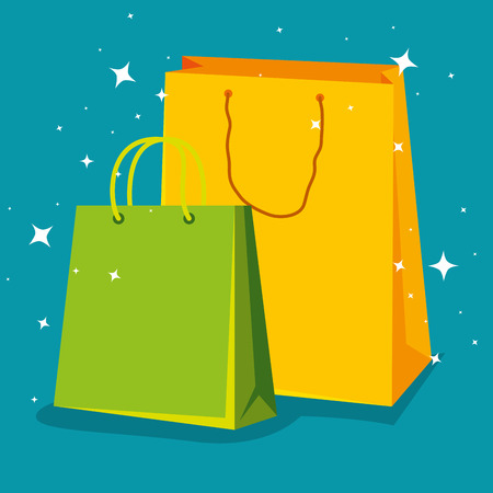 fashion sale bags to special offer vector illustration Illustration