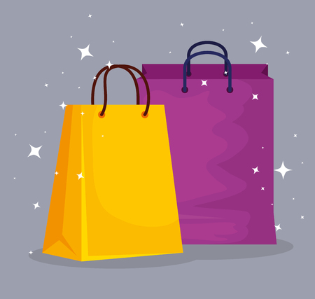 fashion sale bags to special promo vector illustration