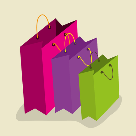 sale bags to special price in the store vector illustration