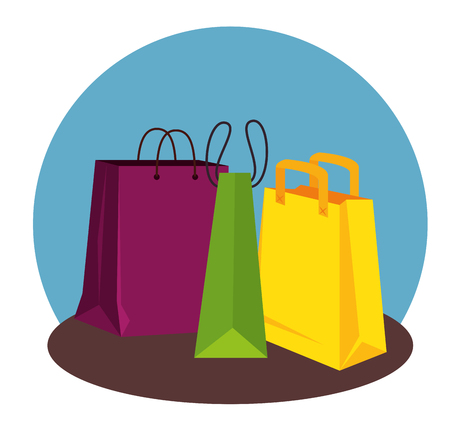 sale bags to special promo in the store vector illustration Illustration