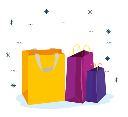 sale bags to special promotion in the store vector illustration