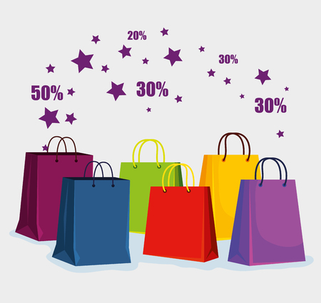 store sale bags to special offer vector illustration