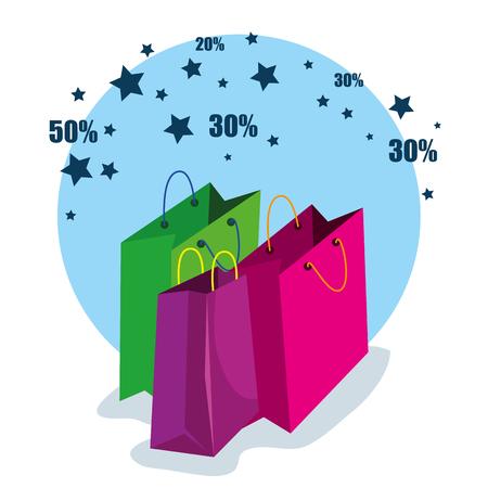 sale bags to super online discount vector illustration Stock Vector - 111977688