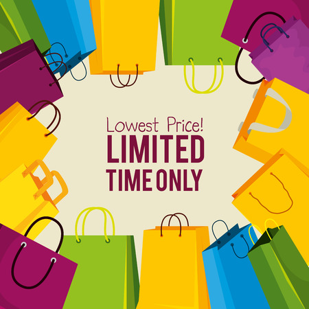 sale bags to special online price vector illustration