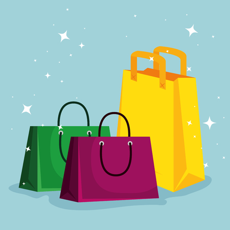 sale bags to super online offer vector illustration Illustration