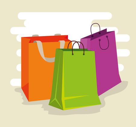 sale bags to super online promotion vector illustration