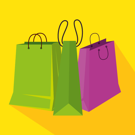 sale bags to special discount in the store vector illustration