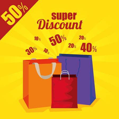 market sale bags to special discount vector illustration Illustration