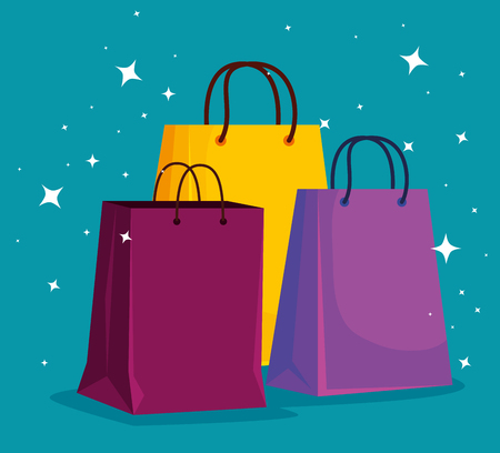 market sale bags to special promo vector illustration